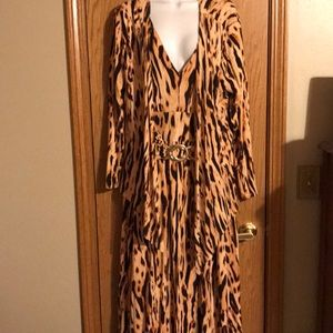 Liz lange size XL 1X Leopard print dress/ jacket
